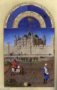 Les très riches heures du Duc de Berry: Octobre (October)
