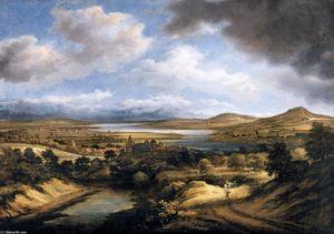 Panoramic River Landscape