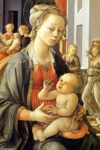 Madonna with the Child and Scenes from the Life of St Anne (detail)