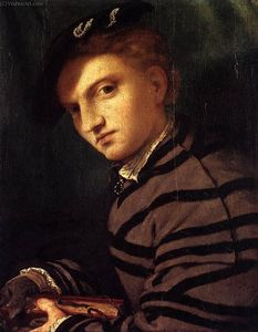 Young Man in a Striped Coat