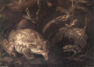 Still-Life with Insects and Amphibians (detail)