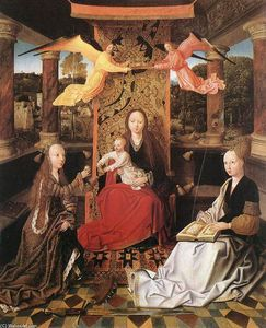 Madonna and Child with Sts Catherine and Barbara