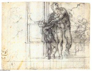 Aeneas with a Boy (recto)