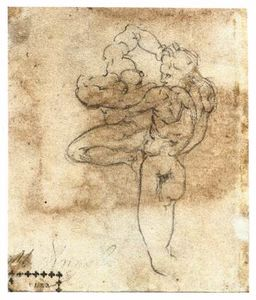 Man Abducting a Woman (verso)