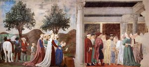 2. Procession of the Queen of Sheba Meeting between the Queen of Sheba and King Solomon