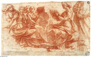 Group of Figures Holding Book