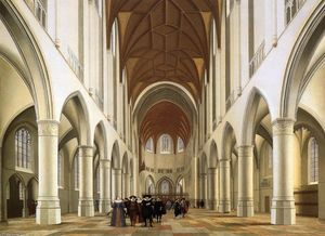 Interior of the Sint-Bavokerk in Haarlem
