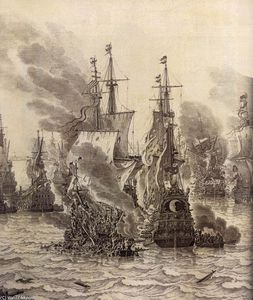 The Battle of Livorno (detail)