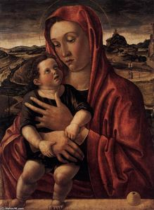 Madonna, with Child Standing on a Parapet