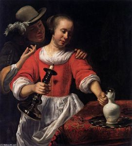 A Young Woman and a Cavalier