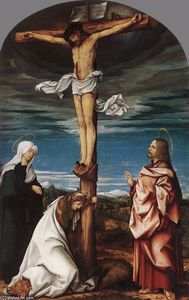 Crucifix with Mary, Mary Magdalen and St John the Evangelist