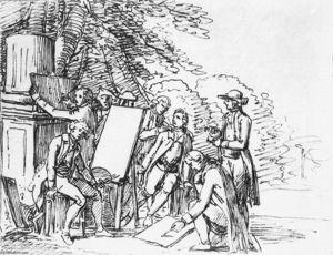 Johann Wolfgang von Goethe with His Italian Friends