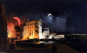 Nocturnal Celebrations in Via Eugenia at Venice
