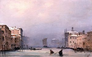 Snow and Fog on the Grand Canal
