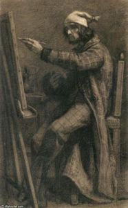 Artist at His Easel