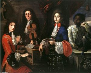 Portrait of Three Musicians of the Medici Court