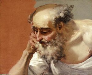 Head Study of an Elderly Bearded Man