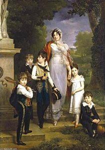 Portrait of Maréchale Lannes, Duchesse de Montebello with Her Children
