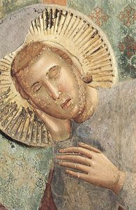 Legend of St Francis: 3. Dream of the Palace (detail)