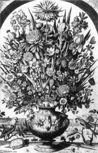 Цветок кусок с ПТИЦ