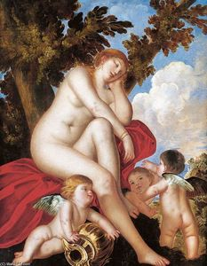 Sleeping Venus with Putti
