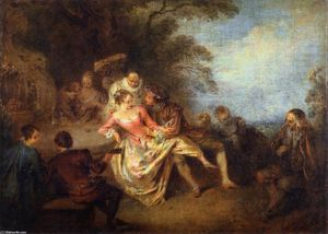 Gathering of Actors of the Comédie-Italienne in a Park