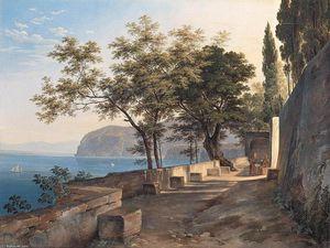 Terrace of the Capucin Priory in Sorrento