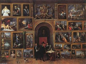 Archduke Leopold Wilhelm of Austria in his Gallery