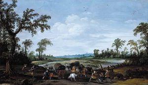 Bandits Attacking a Caravan of Travellers