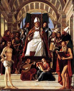 Altarpiece of St Ambrose (detail)