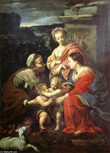 The Holy Family with Sts Elizabeth, John the Baptist and Catherine