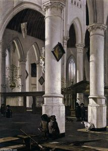 Interior of the Oude Kerk, Delft