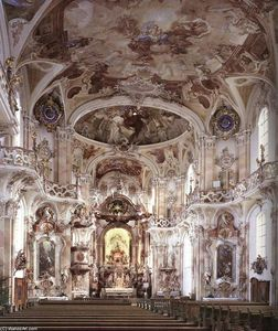 Interior with stucco decoration