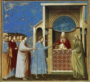 No. 9 Scenes from the Life of the Virgin: 3. The Bringing of the Rods to the Temple