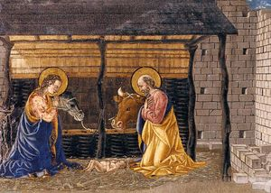 Nativity and Adoration of the Magi (detail) (10)