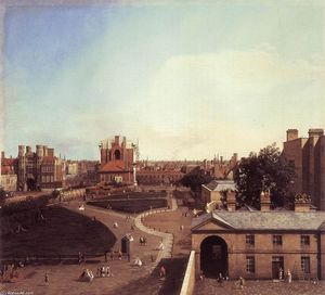 London: Whitehall and the Privy Garden from Richmond House