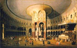 London, The Interior of the Rotunda at Ranelagh