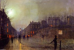 London, View of Heath Street by Night