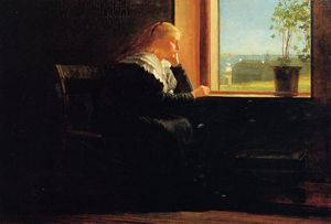 Looking out to Sea (also known as Female Figure in Black near a Window)