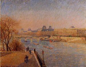 The Louvre: Winter Sunshine, Morning
