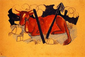 Lying Red Cow