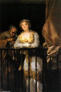 Maja and Celestina on a Balcony