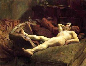 Male Model Resting
