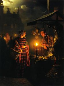 Market Place by Candlelight