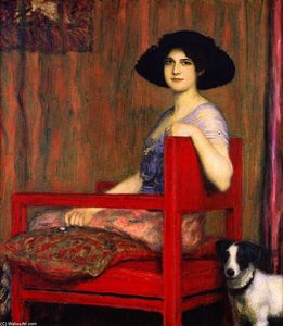 Mary in a Red Chair