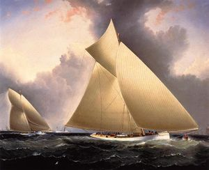 'Mayflower' Leading 'Galatea', America's Cup 1886