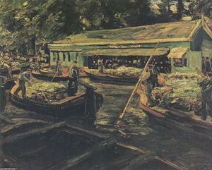 Merchants of Vegetables in a Canal in Delft
