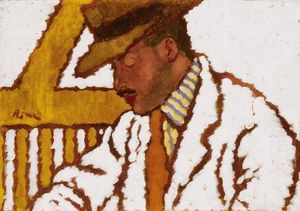 Man in Hat (also known as Portrait of Count Somssich)