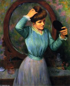 The Mirror (also known as Woman Fixing Her Hair)
