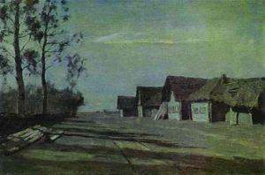 Moonlit Night. A Village